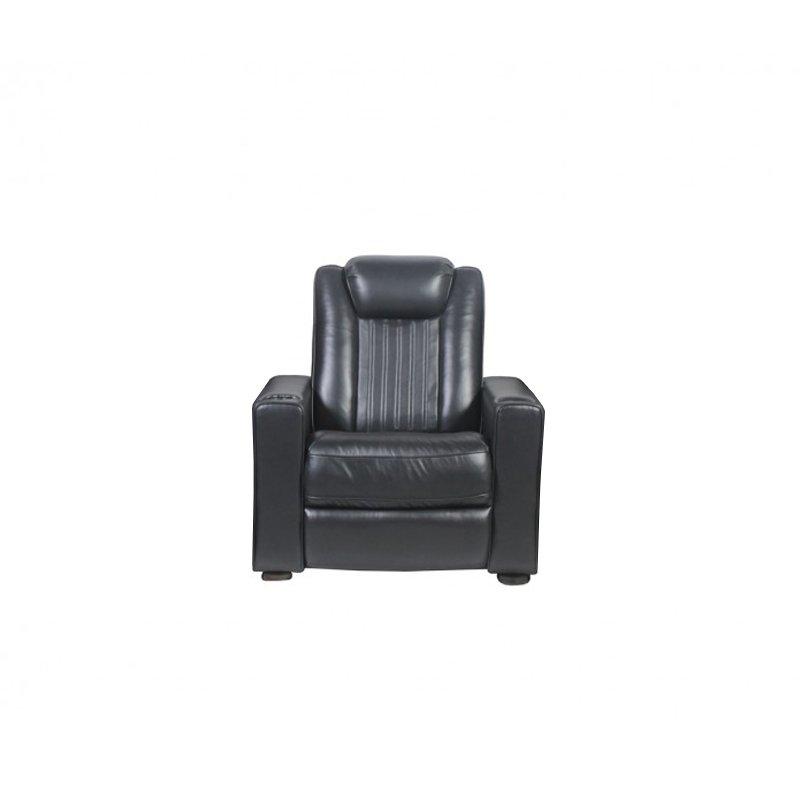 Rowone Reynolds W Power Headrest/ Led Cupholder Fabric: Cortina Colour: Black