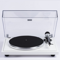 EAT B-SHARP TURNTABLE WITH 2M BLUE GLOSS WHITE - EX-DEMO