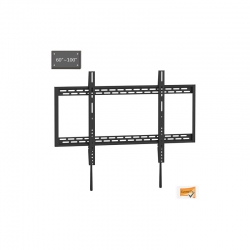 X-Large Heavy Duty Fixed Curved Flat TV Wall Mount 60-100""