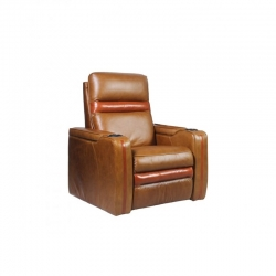 Rowone Taylor 2-Arm Chair With Power Headrest/Led Cupholder Fabric: Shalimar Col
